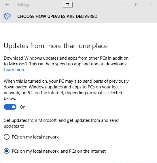 win10 shared updates