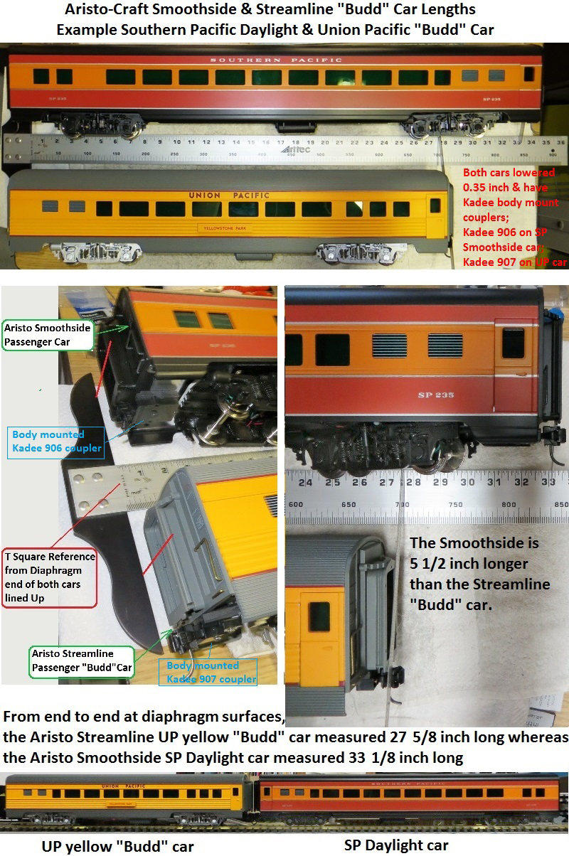 AristoSmoothsideAndStreamlinerPassengerCarsLengthCompareComposite