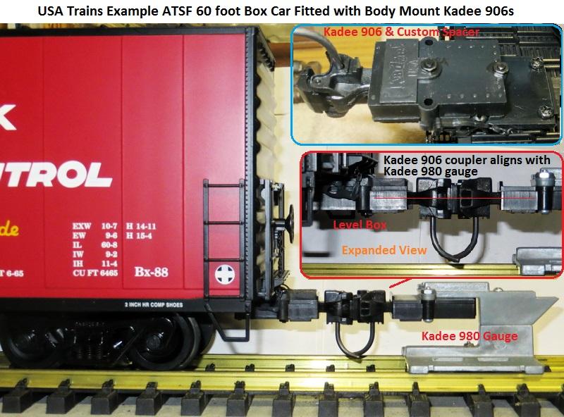 Kadee 906 corrects USAT coupler assy downward tilt