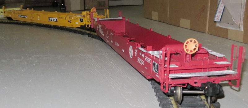Modified USAT Well Cars on 8 foot dia. track