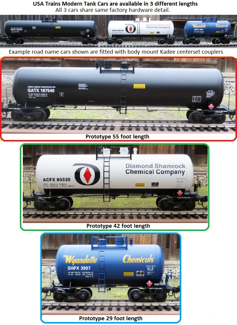 The 3 USAT Modern Tank Cars
